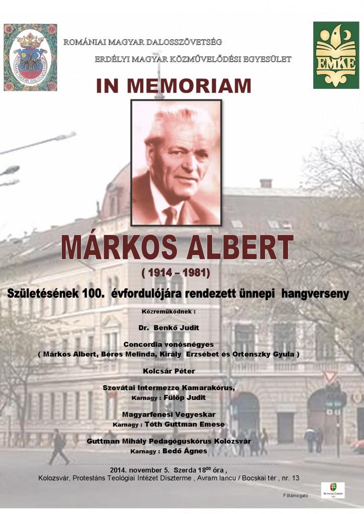 141005-Im memoriam-Markos-Albert-plakat