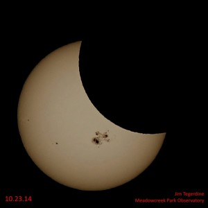 Részleges napfogyatkozás szűrőn át nézve