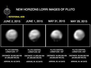 A Plútó a szonda egyik kamerájának képein