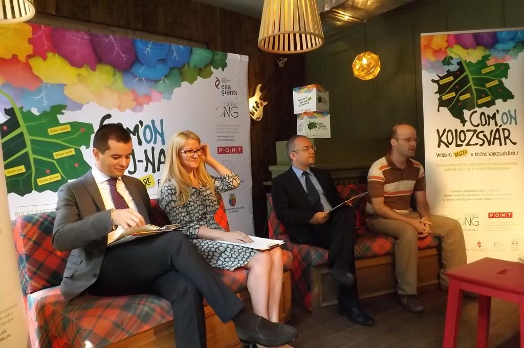 A COM'ON Kolozsvár sajtótájékoztatója