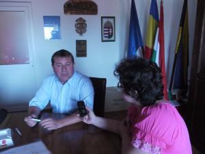 Dombi Attila, Sarmaság polgármestere. Fotó: Maksay Magdolna