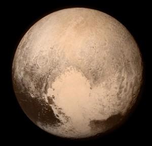 A NASA New Horizons űrszondájának fotója a Plútóról