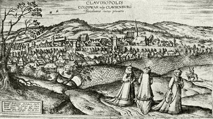 Houfnagel György rézmetszete 1617-ből (fotó: mek.oszk.hu)