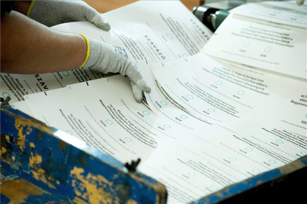 Ilyenek lesznek a szavazólapok - Fotó: MTI / Koszticsák Szilárd
