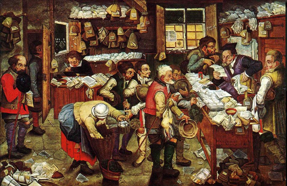 Pieter Brueghel: Az adószedő irodája