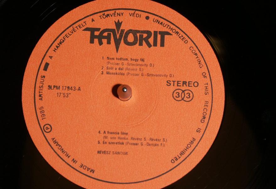 Revesz Sandor LP 1985